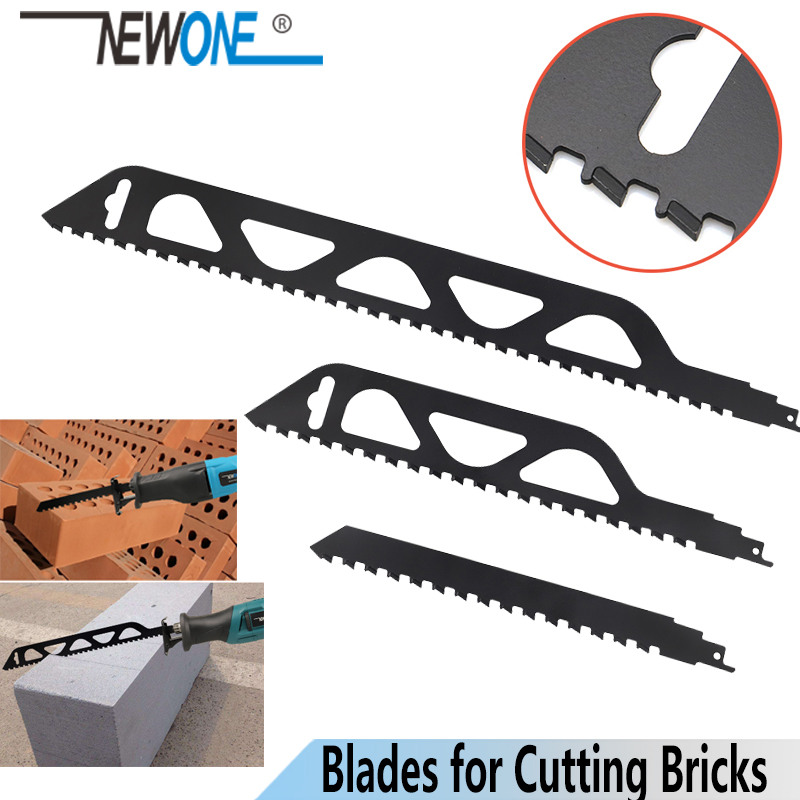 NEWONE Reciprocating Saw Blade Cutting Red/Grey Brick And Stone, Hand Saw  Blade For All Conventional Saber Saws Rip/cross Cuts