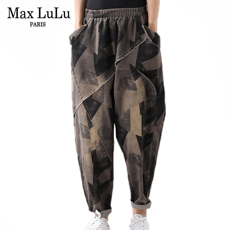 Max LuLu 2019 Fashion European Style Ladies Gothic Streetwear Womens Autumn Plaid Harem Pants Vintage Elastic Female Trousers
