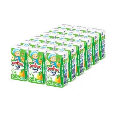 Пюре Спелёнок Груша с витамином С с 4 мес 125 гр(18 шт