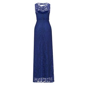 Image 2 - Dressv 로얄 블루 특종 목 긴 저녁 드레스 구슬 민소매 저렴한 결혼식 파티 공식 드레스 칼집 이브닝 드레스