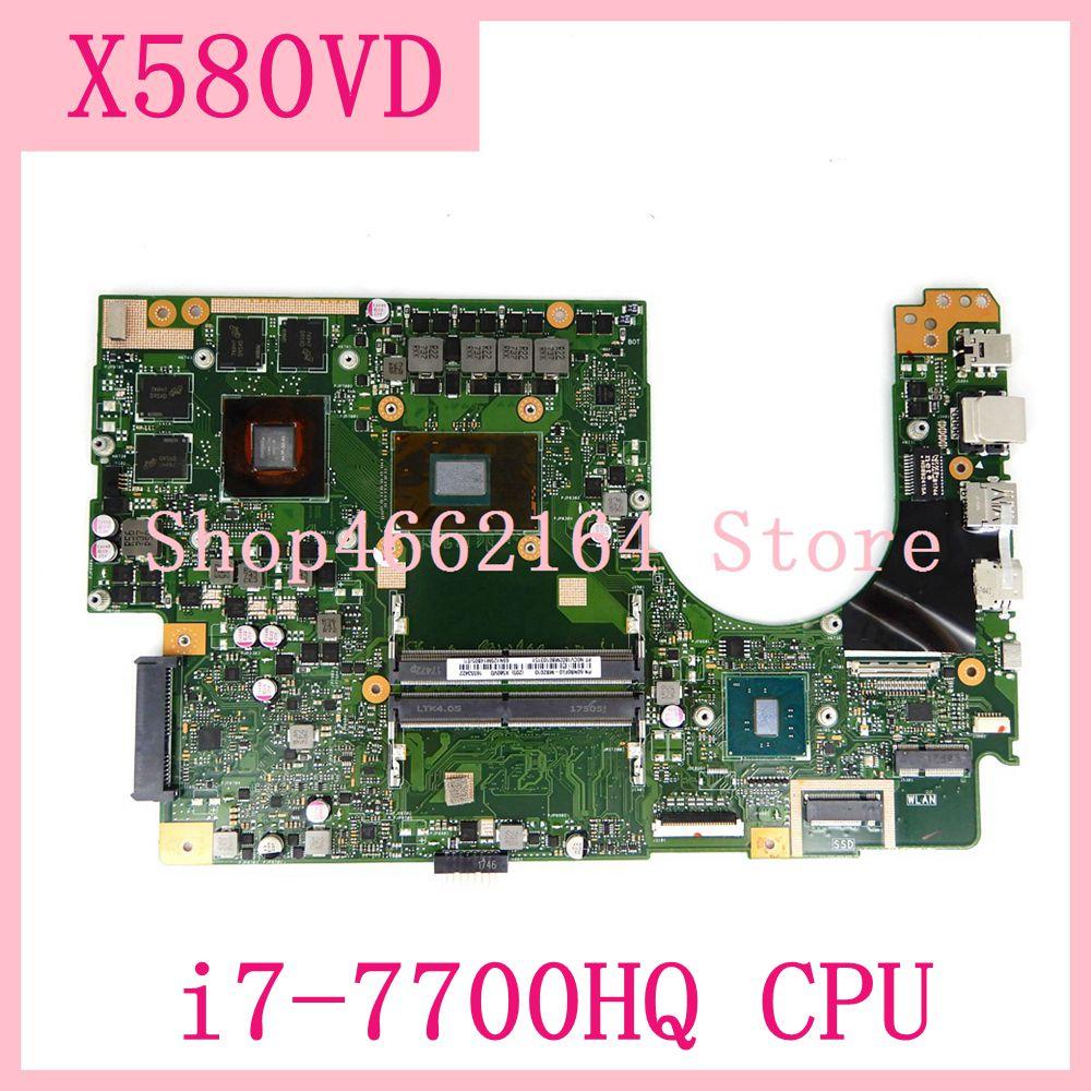 Материнская плата X580VD с видеокартой GTX1050 i7-7700HQ процессор для ASUS Flying fortress X580 X580V X580VD X580VN материнская плата для ноутбука