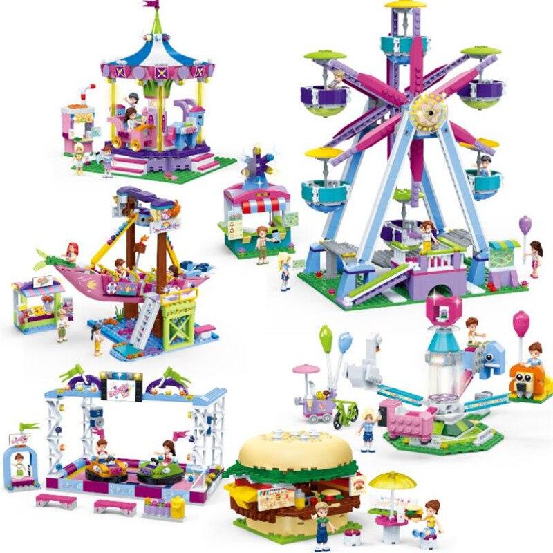New Girls Series City Fun Park Carnival Of Joy Blocks Compatible  Legoinglys Friends Building Blocks Toys For Girl Children