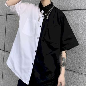 NiceMix gothic patchwork women blouses black and white shirts bf women clothes vintage summer tops shirt plus size couple blouse