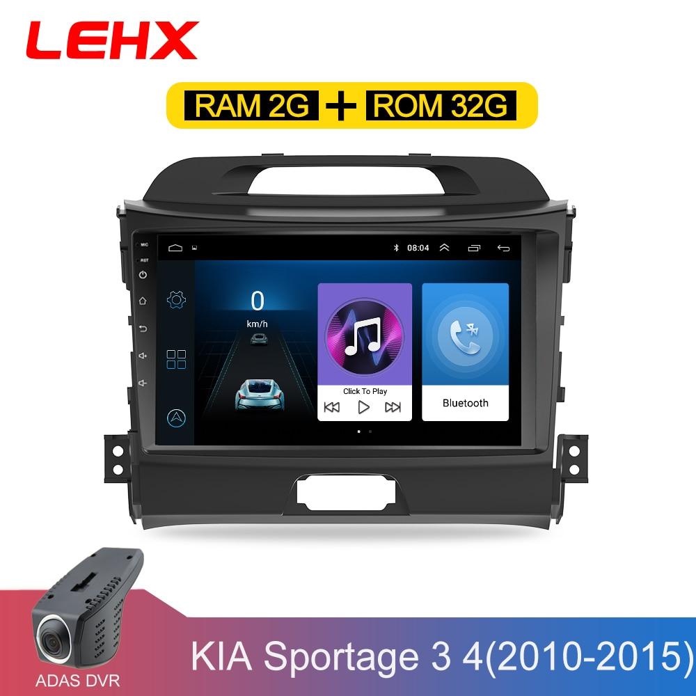 Lehx carro android 8.1 2 din carro reprodutor multimídia dvd do carro para kia sportage 2011 2012 2013 2014 2015 unidade central gps navegação rádio