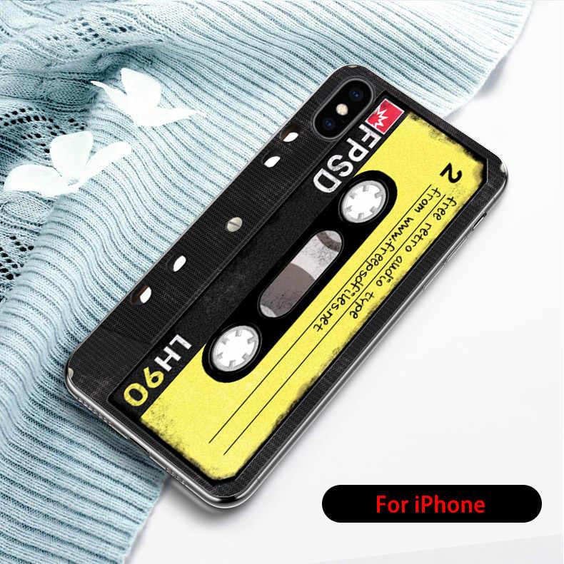 Cas Rétro Caméra Couverture Arrière pour iPhone 6 6S 8 7 Plus XR X 4 4S 5 5S 5C SE Xs Max Fundas TPU Coque Peau