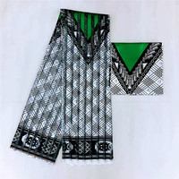 promotion 2+4yards satin silk with ORGANZA fabric soft african fabric for dress ankara fabric african wax prints fabric niger