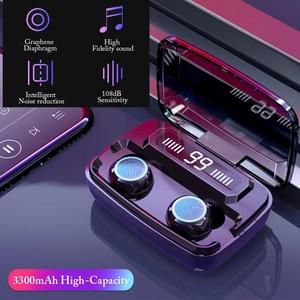 Image 2 - TWS 블루투스 5.0 헤드폰 무선 이어폰 터치 컨트롤 방수 9D 스테레오 스포츠 게임 헤드셋 마이크와 LED 디스플레이