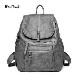 Image 1 - WESTCREEK Brand Women Backpack High Quality Leather Fashion School Backpacks Female Feminine Casual Large Capacity