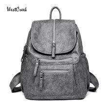 WESTCREEK marka kadın sırt çantası yüksek kaliteli deri moda okul sırt çantaları kadın kadınsı rahat büyük kapasiteli