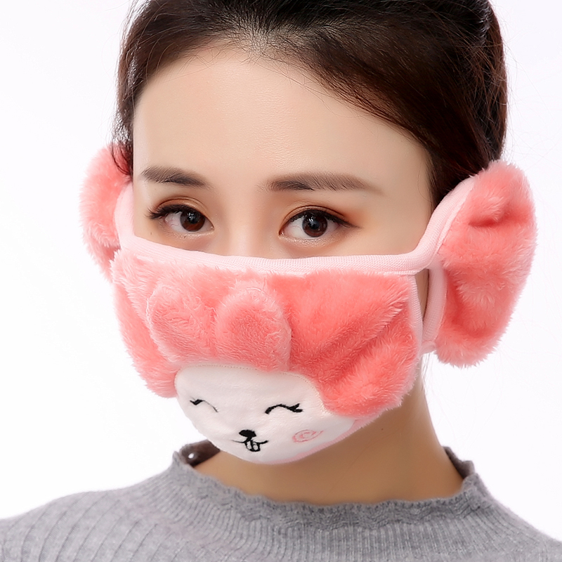 Colorful Cute Warmer Cotton Mouth Mask  Antipollution  For Women Girls Breathable Windproof Dustproof Warm  Muffle
