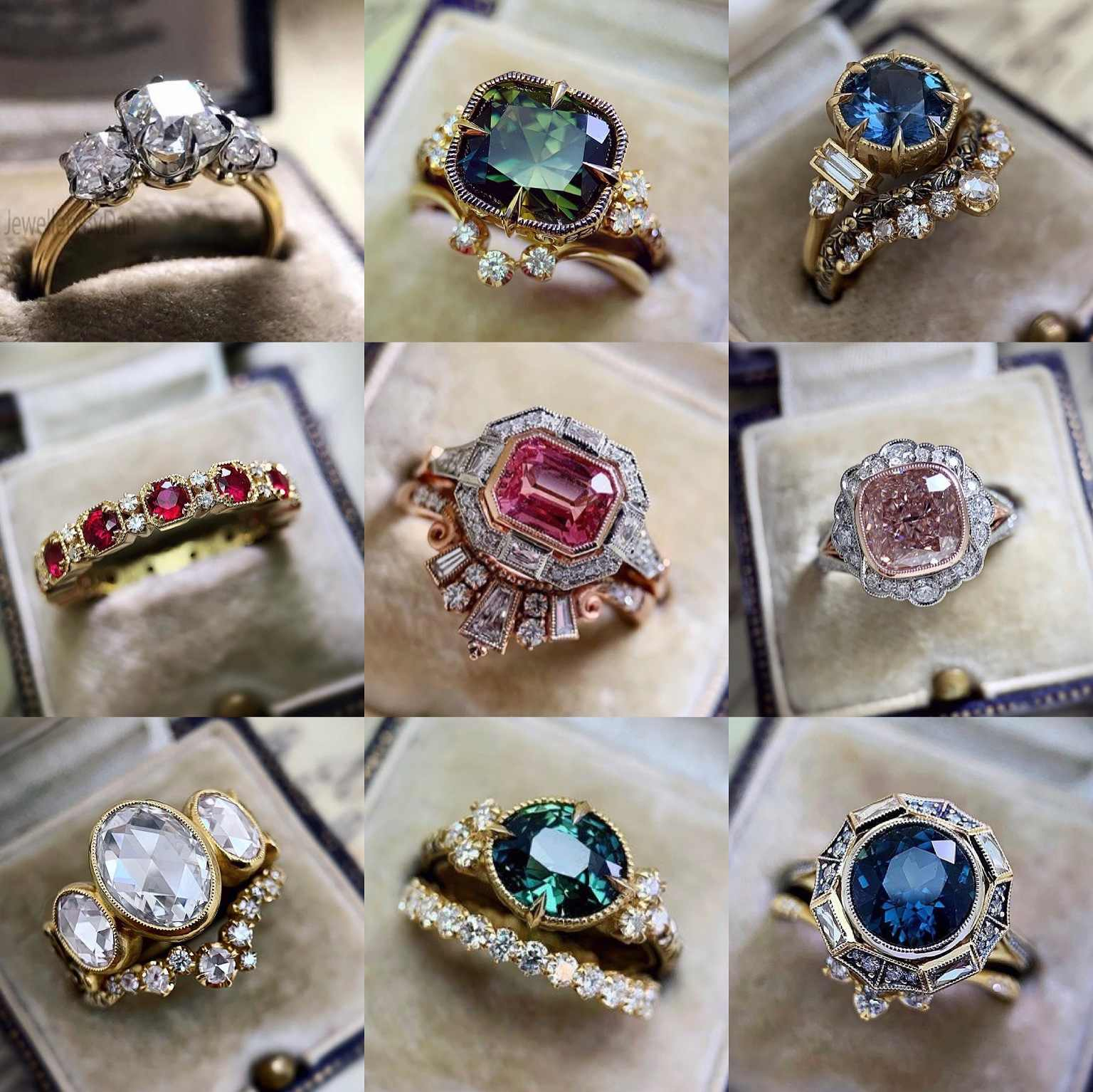 New Style Inlaid Colorful AAAA Zircon Ring Set Ring Retro Elegant Ladies Jewelry Ring Wedding Party Jewelry Jewelry for Women