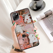 цена на for Iphone 11 Pro XR 11Pro Max 8P 7P XS 8 6s Case Cute White Bear Tpu Soft Black Phone Shell Case Full Protective Back Cover