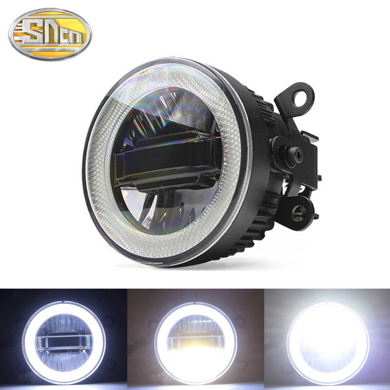 SNCN 3-IN-1 Functions Auto LED Angel Eyes Daytime Running <font><b>Light</b></font> Car Projector Fog Lamp For <font><b>Mitsubishi</b></font> <font><b>Outlander</b></font> 2006 - 2017 2018 image
