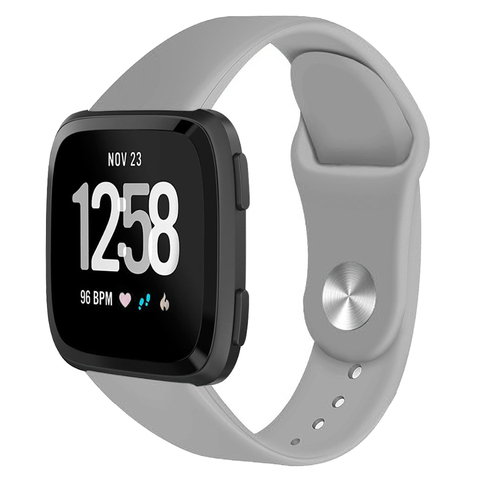 Suitable for F Versa / Versa lite smart watch Solid color reverse buckle silicone TPU strap Karachi