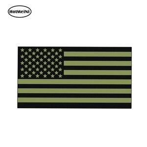 Hotmeini 13cm x 6.8cm od verde eua bandeira adesivo decalque apoio américa militar 2nd emenda arma aplicação da lei xerife