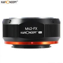 K & f concept m42 para fuji x adaptador, montagem de lentes, para m42, parafuso, lente para fujifilm, fuji x-câmeras sem espelho da série x fx