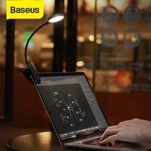 Baseus Mini takılabilir lamba USB LED ışık esnek okuma masaüstü bilgisayar lambası USB doğal ışık katlanabilir göz koruması gece lambası