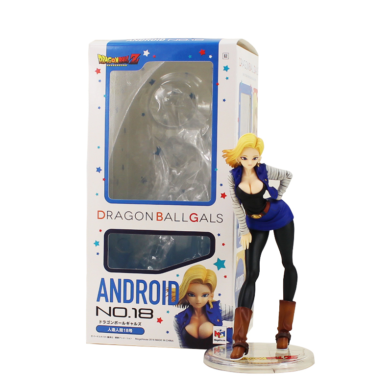 18cm Anime <font><b>Figure</b></font> <font><b>Dragon</b></font> <font><b>Ball</b></font> Z Girls Gals Android 18 Lazuli <font><b>Sexy</b></font> Cartoon PVC Action <font><b>Figure</b></font> Collection Model Dolls Toy image