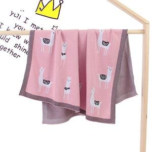 Image 4 - Вязаное одеяло для детской кровати, пеленка из альпаки для новорожденных, мягкое покрывало для младенцев, диван для малышей, постельное белье, одеяло для сна, аксессуары для детской коляски