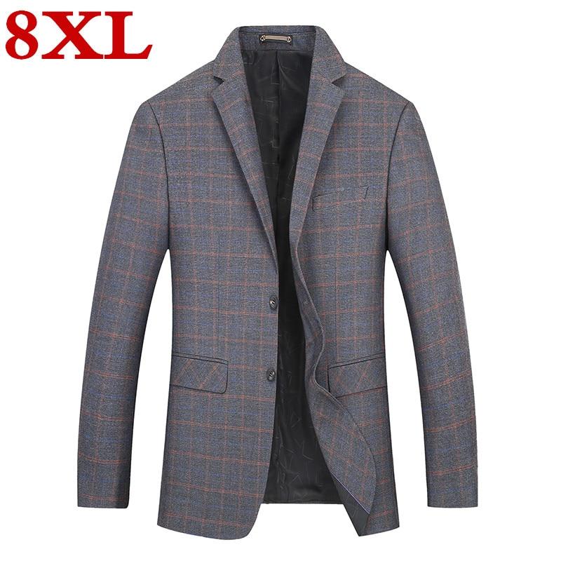 2019  Big  Plus  Size  8XL  7XL  6XL New  Arrival Autumn And Winter Men's Suit Jacket Fashion Slim Fit Brazer Casual Blazers Men