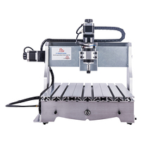 mini cnc router 4030T-D300 3axis for wood stone carving tools with New USB to Parallel Adapter Russia no tax