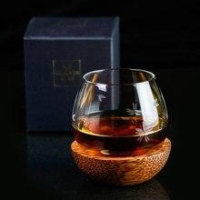 Медленный рулон стаканчик для виски Rock Fund бокал для вина в японском стиле деревянный поднос для виски, стеклянная посуда для бара, бытовые вечерние хрустальные вазы