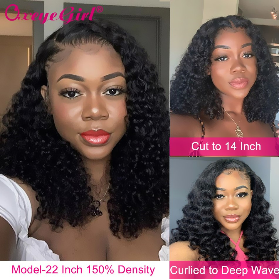 Deep Curly Wig Lace Front Human Hair Wigs For Women Pre Plucked Human Hair Wigs Brazilian Remy Curly Human Hair Wigs Oxeye Girl
