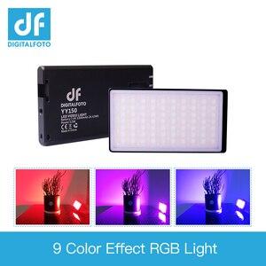Image 1 - DF YY150 RGB LED 12 واط 2500K 8500K عكس الضوء CCT اللون رقيقة جدا مصباح لوح ل تسجيل الفيديو DSLR يوتيوب صور إضاءة الاستوديو