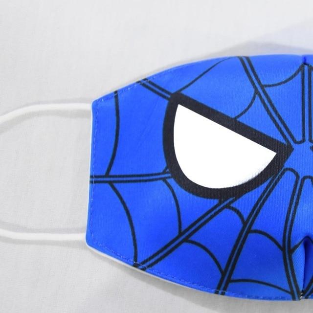 2020 New Cartoon Spiderman Mask Women Men Kids Cotton Breathable Auti-Dust Half Mouth Face Masks Supplies ZXT220 2