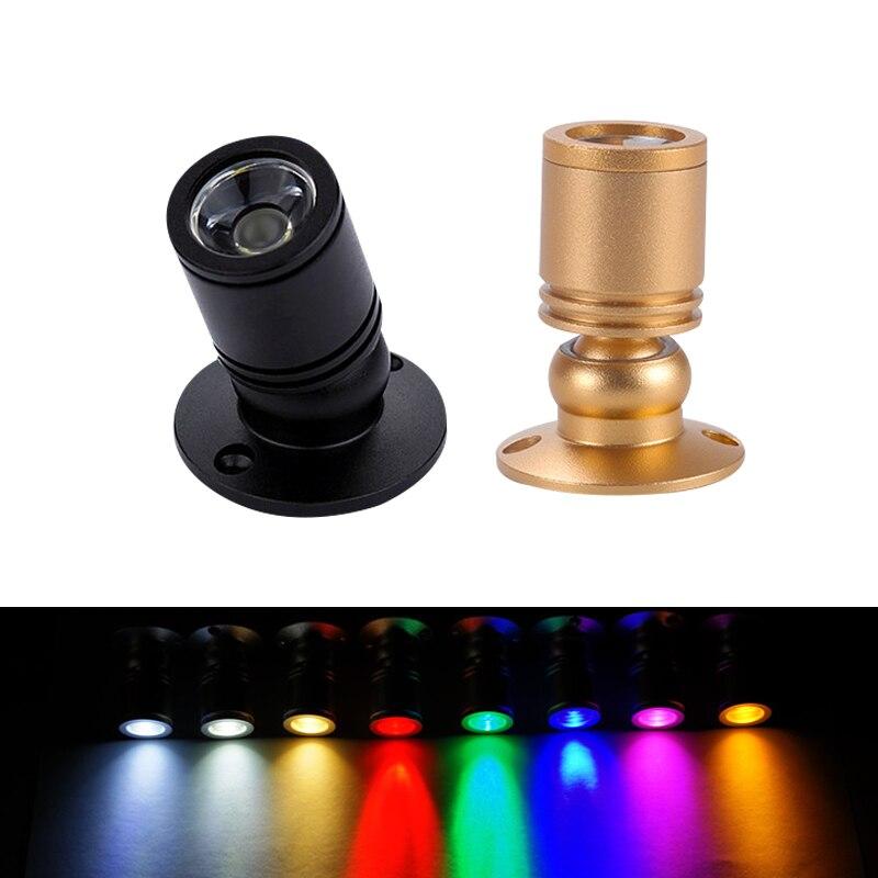 LED spot Mini led tavan aşağı ışıkları 1W 3W AC85-265v yüzeye monte ampuller kabine sayaç vitrin