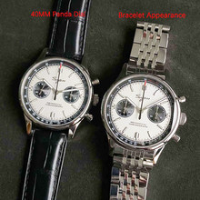 Panda 1963 cronografo pilota meccanico 40mm zaffiro orologi uomo 2020 movimento gabbiano st1901 orologi da polso militari da uomo