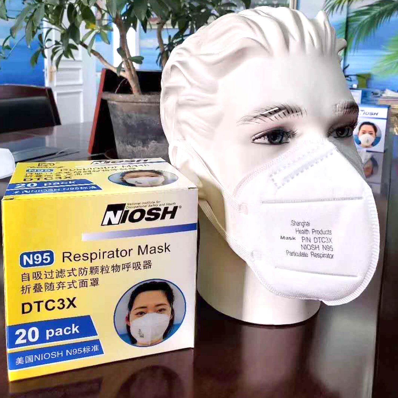 20PCS Masks N95 Surgical Half Face Mask N95 Mask Respirator N95  Mask Anti Virus N95 Respirator Mask Bulk Medical Face MaskParty Masks