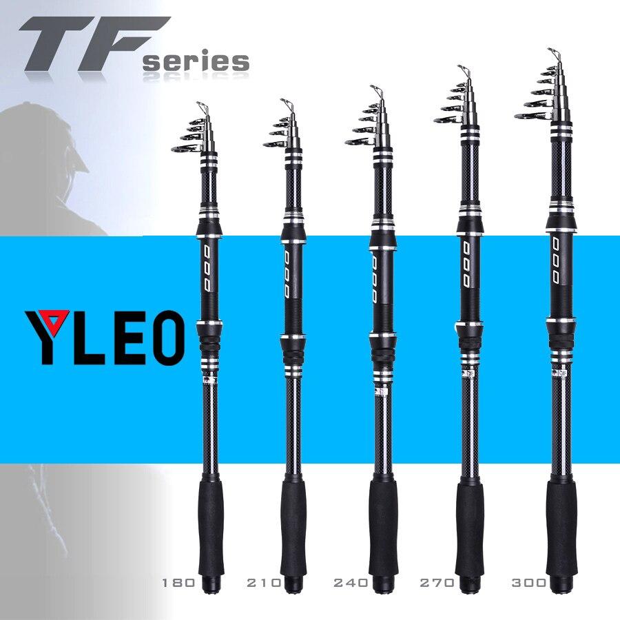 YLEO Super Hard Carbon Fishing Rod Sea Fishing Pole Portable Carbon Fiber Telescopic Fishing Rod 1 8M 2 1M 2 4M 3 0 Carp Rod in Fishing Rods from Sports Entertainment
