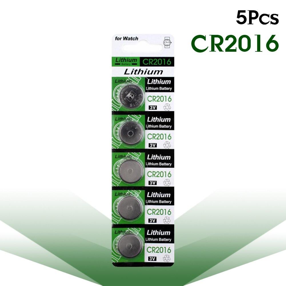 5 шт., 3 в CR2016, литиевая батарея, батарейки для монет, 2016, DL2016, LKCR2016, M2016, ECR2016, часы, игрушки, медицинское устройство, батарея