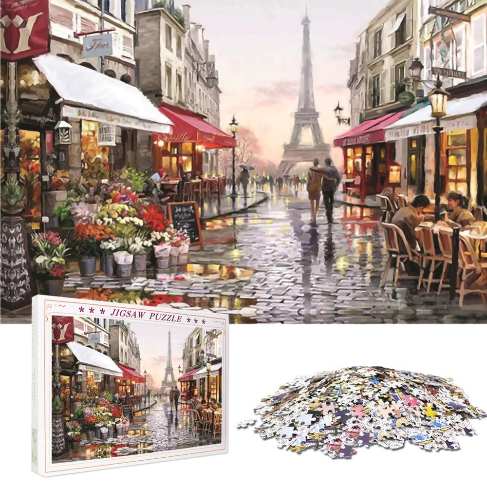 1000 Pieces Adult Puzzles Difficult Candy House Puzzle Landscape Style Gifts 30P