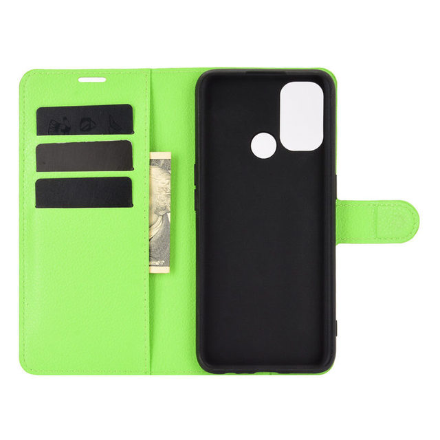 500Pcs/Lot Lychee Pattern Flip PU Leather Wallet Phone Case For Oppo Realme 7 Pro 7i C17 X7 Reno 4 SE 4G F17 5G A15 A72 A73 4