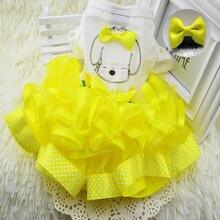 Новинка платье для собак одежда маленьких свадебное Весенняя