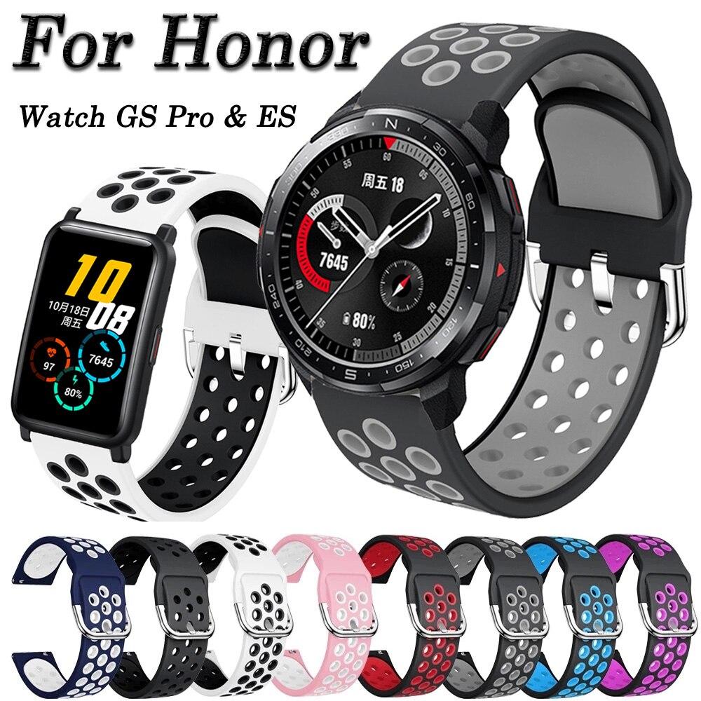 22mm 20mm pulseira de relógio para honra relógio gs pro banda honra relógio es pulseira silicone pulseira substituição