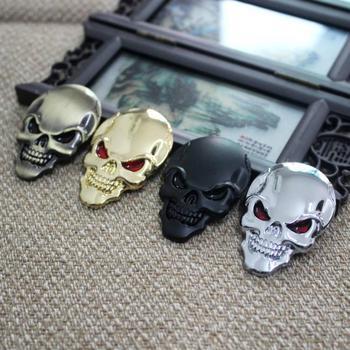 цена на OLPAY Motorcycle Car Universal 3D Chrome Emblem Badge Sticker Skull Decals Frame Body Decoration Sticker Decal For Harley Yamaha