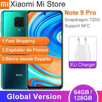 Global Version Xiaomi Redmi Note 9 Pro Smartphone 6GB RAM 64GB ROM Snapdragon 720G 64MP Rear Quad Camera 6.67