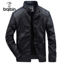 Men Leather Jacket Autumn Winter Pu Leather Coat Mens Plus Velvet Outerwear Biker Motorcycle Classic Jackets Size 6xl Clothes(China)