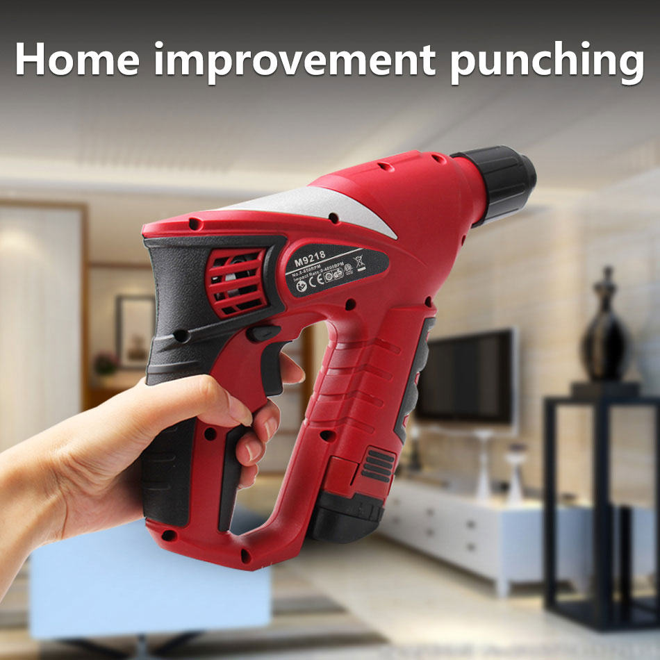 Rotary Power Multifunction Drill Tools Tool Electric Screwdriver Rechargable 12V Hammer Home Impact 2000mAh Cordless Battery