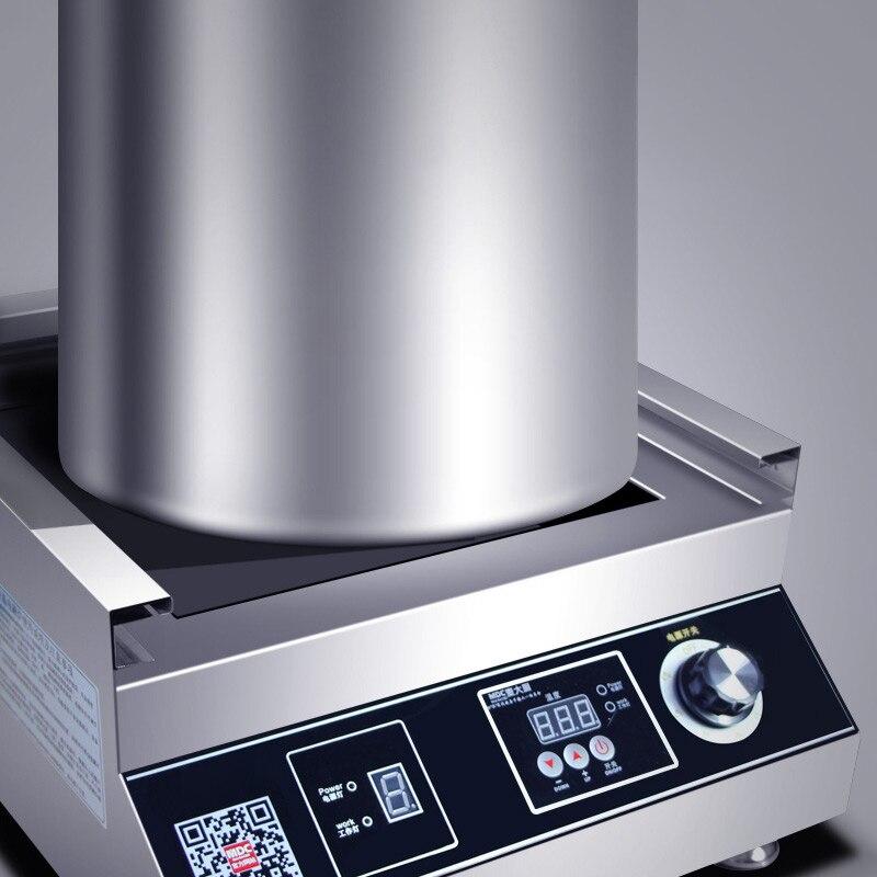 Коммерческая индукционная плита 5000 Вт самолет Высокая мощность суп тушеная лапша плита Коммерческая электрическая плита ресторан столовая 380В 6