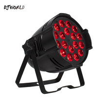 Djworld LED 18x18W Par Light Casting Aluminum Stage Par RGBWA+UV 6in1 Wash DMX 512 Powercon For Disco DJ Music Party Club Dance