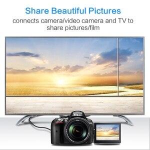 Image 2 - مايكرو HDMI كابل وصلة بينية مُتعددة الوسائط وعالية الوضوح محول سرعة 1080P 3D الذهب مطلي كابل الجلاد 1m 3m 5m ل HD TV XBOX مايكرو HDMI كابل محول