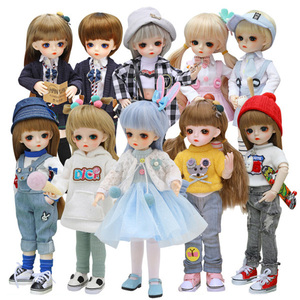 New 1/6 BJD Doll 30CM 18 Ball Joints Dolls With Full Set Outfits Dress Wig Shoes Makeup Girls DIY Toys Best Gifts Collection