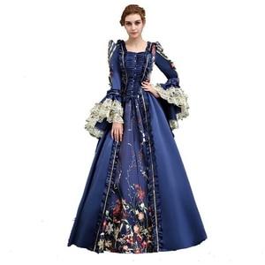Платье 18-го века Rococo, бальные платья в стиле барокко, Marie Antoinette, голубое платье в стиле ренессанс
