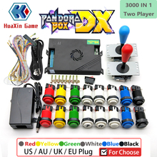 2 Player DIY Arcade Pandora box DX 3000 in 1 5Pin joystick American HAPP Style Push Button for 3p 4p 3d game Machine console