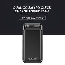Jellico قوة البنك 20000mAh LED المحمولة بطارية قوة البنك PD سريع تهمة 12 فولت Powerbank آيفون شاومي mi قوة البنك