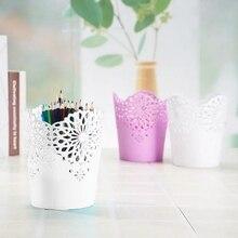 Desk-Organizer Container Pot-Holder Storage-Pen Pencil Gift Flower-Brush Hollow